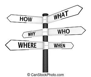 preguntas, poste indicador