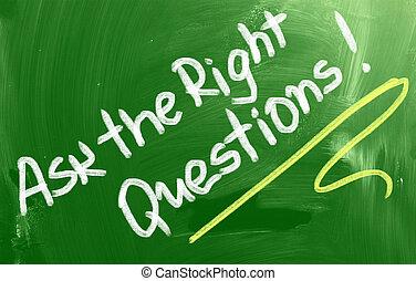 pregunte, concepto, derecho, preguntas