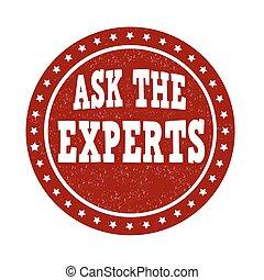 pregunte, estampilla, expertos
