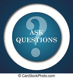 pregunte, preguntas, icono