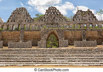 prehispanic, città, di, uxmal, è, uno, unesco, mondo, eredità, luogo