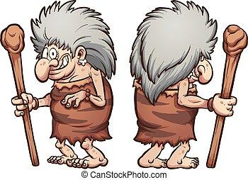 prehistórico, abuelita