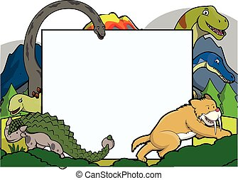 prehistoric animals together
