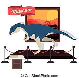 prehistoric design over white background, vector ...