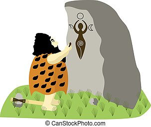 Prehistoric painter