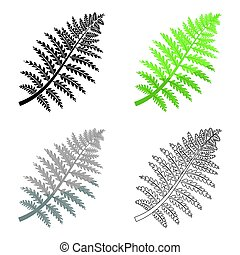 Prehistoric plant icon in cartoon style isolated on white...