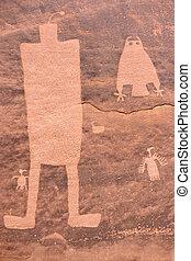 Prehistoric rock art of Pueblo Indians.