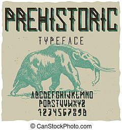 Prehistoric Runes Typeface Poster