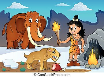 Prehistoric theme image 3 - eps10 vector illustration.
