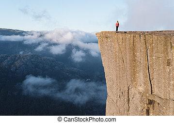 Preikestolen (Pulpit Rock) at Lysefjord, Norway