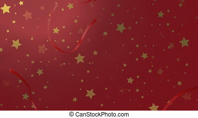 Pre-keyed animation of a Christmas or birthday gift being unwrapped.