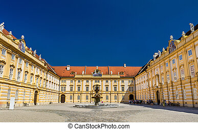 Prelate's courtyard of Melk Abbey in Austria