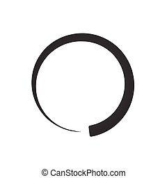 Preloader, buffer shape symbol. Fading circle. min to max visual meter. vector illustration isolated on white background