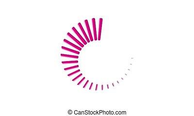 Preloader animation of cartoon icon on white background