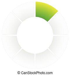 Preloader or buffer symbol, segment circle, circular progress indicator.
