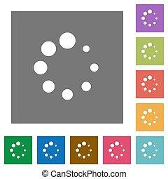 Preloader symbol square flat icons