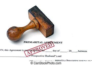 premarital, egyezmény