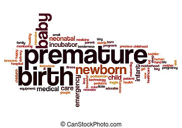 Premature birth word cloud concept