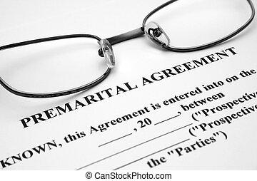 premerital, συμφωνία