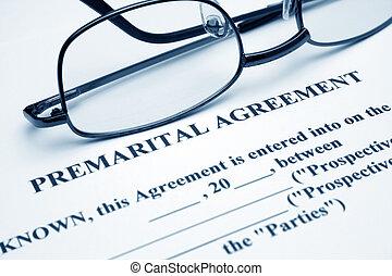 premerital, abkommen