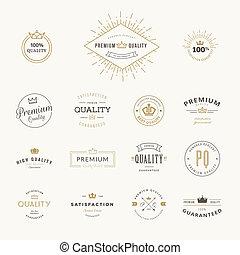 premie, set, stickers, kwaliteit