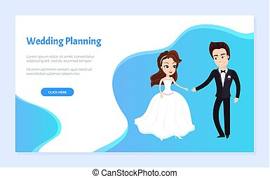 premier, mariage, planification, site web, danse, texte