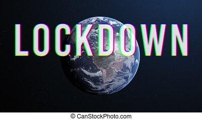 premier plan, coronavirus, emplacement, lockdown