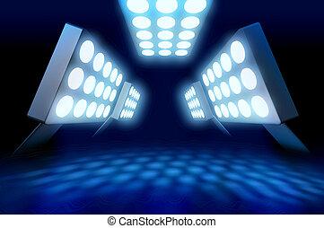 premiera, styl, stadion, światła