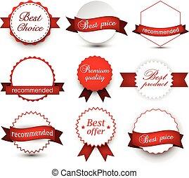 premio, collezione, badges.