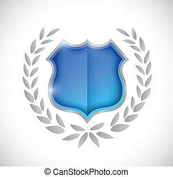 premio, disegno, scudo, illustrazione