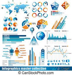 premio, maestro, collezione, infographics