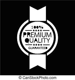 premio, qualità, distintivo, icona