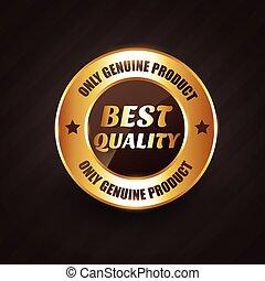 premio, qualità, etichetta, disegno, prodotti, genuino, distintivo, meglio