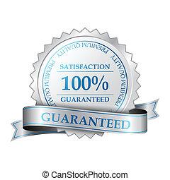 Premium quality and customer 100% satisfaction guarantee label. Vector illustration