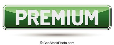 PREMIUM - Abstract beautiful button with text.