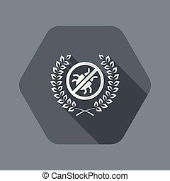 Premium antivirus flat icon - Flat and isolated vector ...