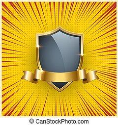 Premium badge realistic vector illustration