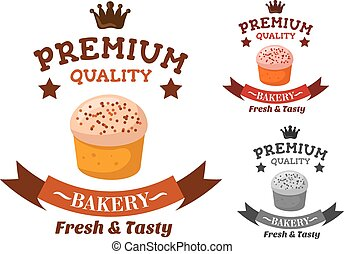 Premium bakery and pastry shop emblem