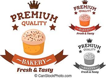 Premium bakery and pastry shop emblem - Premium quality...