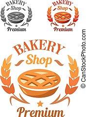 Premium Bakery Shop emblem or badge