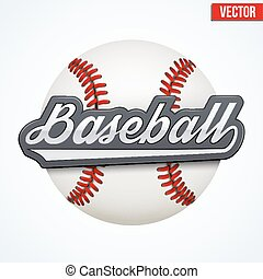 Premium Baseball label. Symbol of sport or club. Vector Illustration isolated on white background.