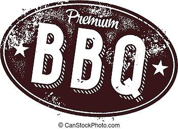 Premium BBQ Vintage Sign