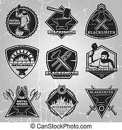 Premium Blacksmith Emblems Set - Premium blacksmith emblems...