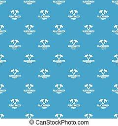 Premium blacksmith pattern vector seamless blue