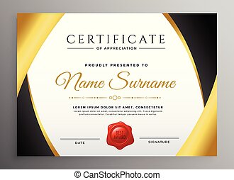 premium certificate of appreciation template