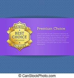 Premium Choice Best Exclusive Quality Stamp Label