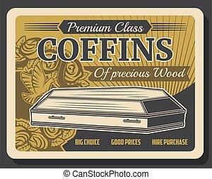Premium class coffins, funeral service company