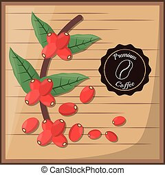 premium coffee beans tree