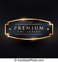 premium collection golden badge and label design