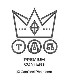 Premium content line icon